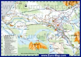 Карта горнолыжного курорта Валь Гардена с отелями