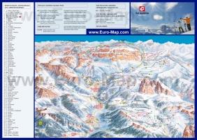 Карта горнолыжных трасс Валь Гардена