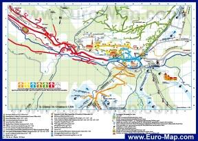 Подробная карта Валь Гардена