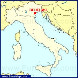 Карта города Венеция с достопримечательностями