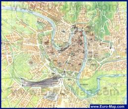 Подробная карта Вероны с достопримечательностями