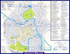 Подробная карта города Виченца с достопримечательностями