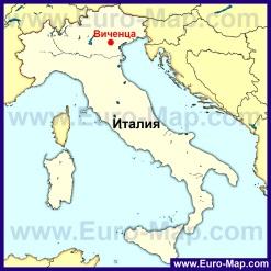 Виченца на карте Италии
