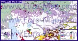 Этническая карта народов Казахстана