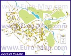 Карта маршрутов транспорта Актобе