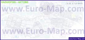 Подробная карта города Актобе с улицами и номерами домов