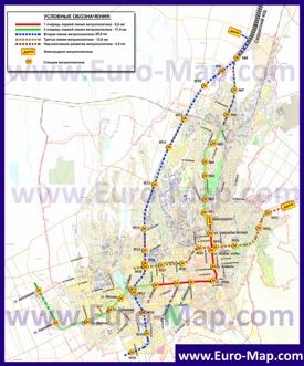 Карта метро Алматы
