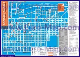 Туристическая карта Алматы с отелями и достопримечательностями