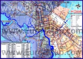 Карта маршрутов автобусов Астаны