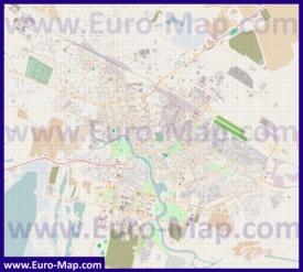Подробная карта города Астана с улицами и домами