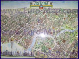 Туристическая карта Астаны