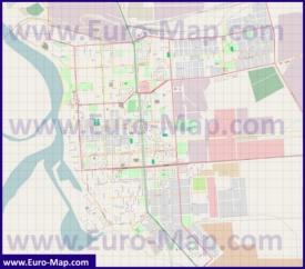 Карта города Павлодар