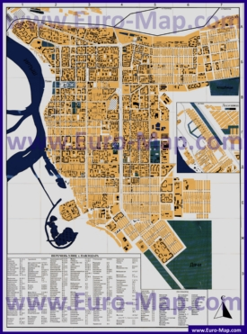 Подробная карта Павлодара с улицами и номерами домов