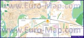 Подробная карта города Уральск с улицами и номерами домов