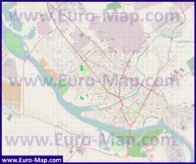 Подробная карта города Усть-Каменогорск