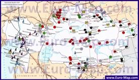 Карта полезных ископаемых Казахстана
