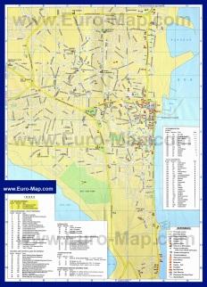 Подробная карта Ларнаки с достопримечательностями