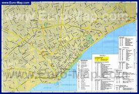 Карта города Лимассол с отелями