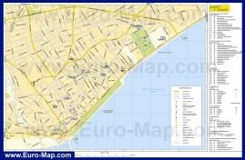 Подробная карта Лимассола с достопримечательностями