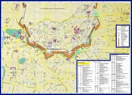 Карта центра Никосии с достопримечательностями