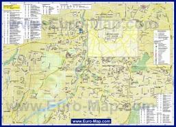 Карта города Никосия с достопримечательностями и отелями