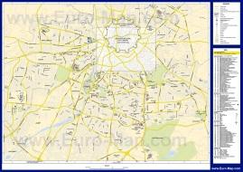 Подробная карта Никосии с отелями