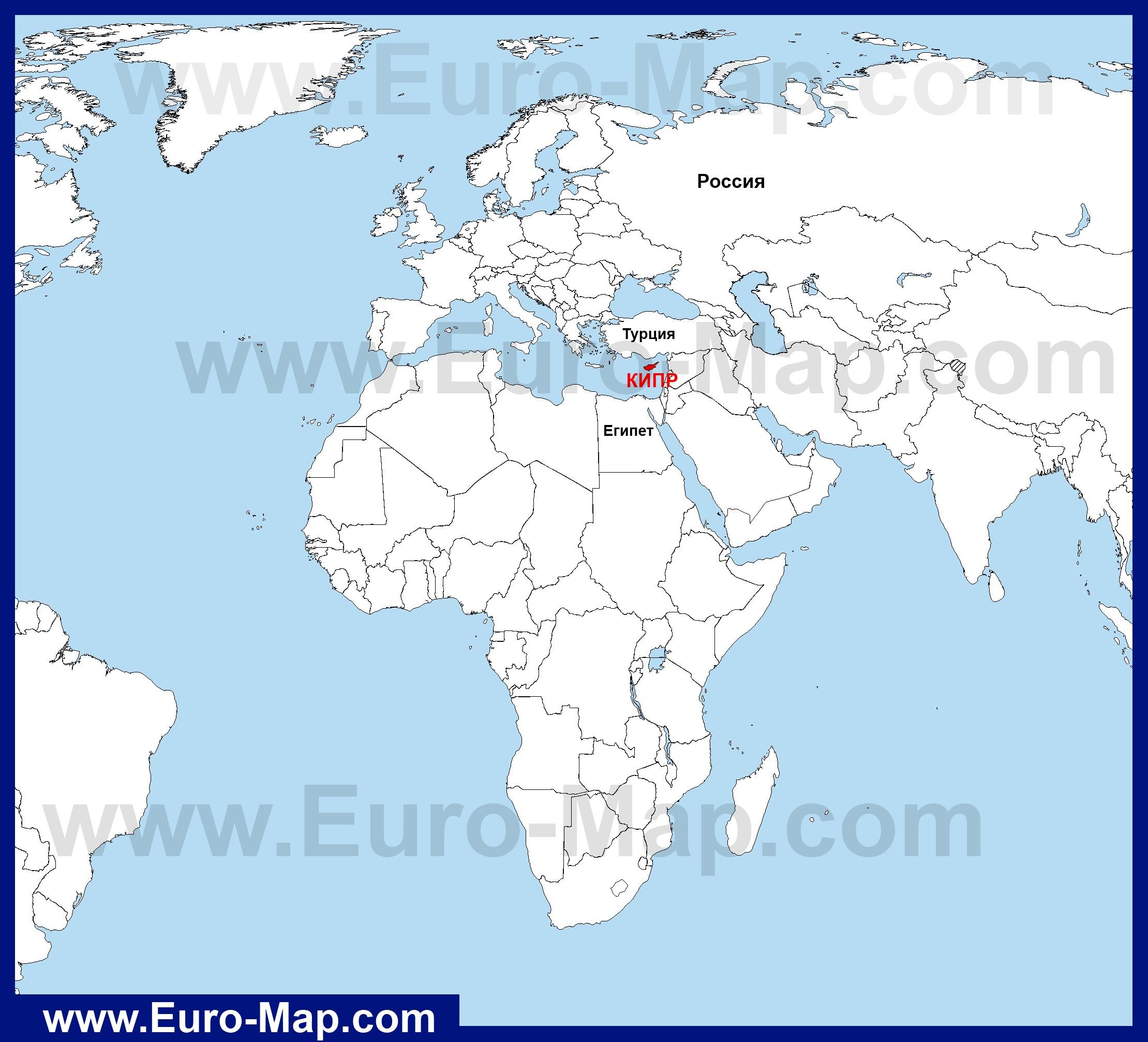 карта кипр фото