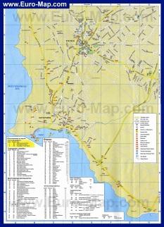 Карта города Пафос на русском языке с отелями