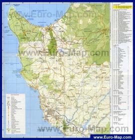 Туристическая карта Пафоса с достопримечательностями