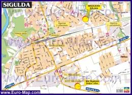 Подробная карта города Сигулда