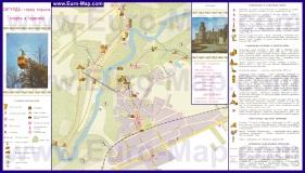 Туристическая карта Сигулды с достопримечательностями