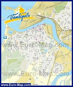 Подробная карта Вентспилса