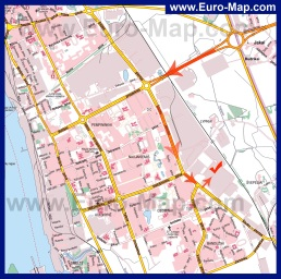 Карта города Клайпеда с улицами