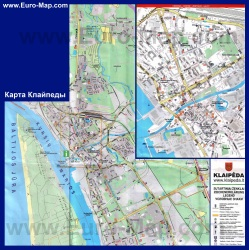 Подробная карта Клайпеды