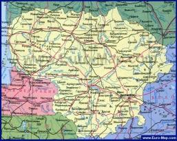 Подробная карта Литвы на русском языке