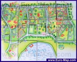 Подробная карта города Висагинас