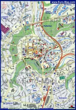 Карта города Люксембург