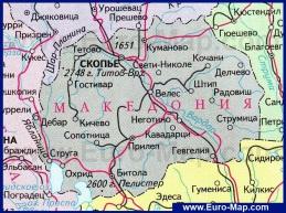 Карта Македонии на русском языке