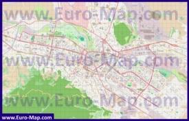 Подробная карта города Скопье