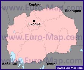 Скопье на карте Македонии