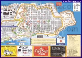 Подробная карта города Валлетта