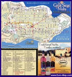 Туристическая карта Валлетты