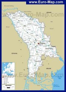 Автомобильная карта дорог Молдавии