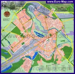 Подробная карта города Бельцы с улицами