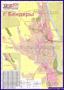Подробная карта города Бендеры с улицами и номерами домов