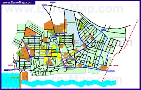 Подробная карта города Дубоссары