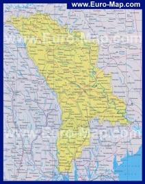 Карта Молдовы на русском языке