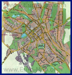 Карта Кишинёва с улицами