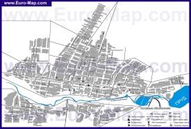 Подробная карта города Комрат с улицами