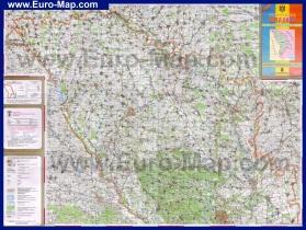 Подробная топографическая карта Молдовы